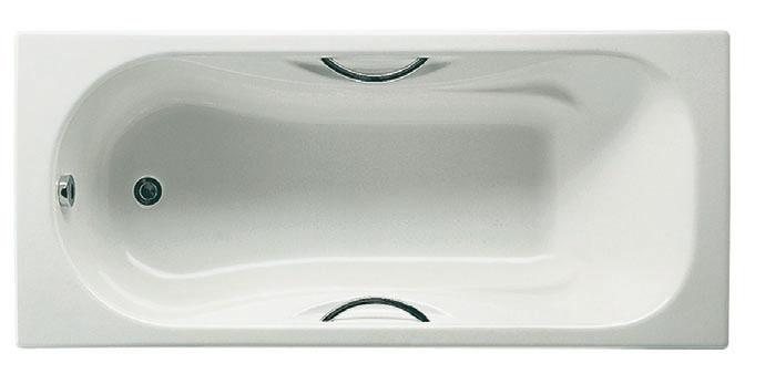 Roca Чугунная ванна MALIBU 150х75 с ручками