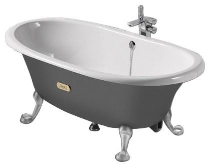 Овальная чугунная ванна Roca Savanha 170x85