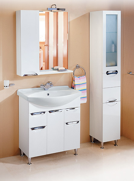 Мебель для ванной комнаты Aqwella Лайн 75