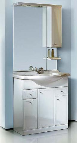 Комплект мебели для ванных комнат Aqwella Барселона Люкс 85