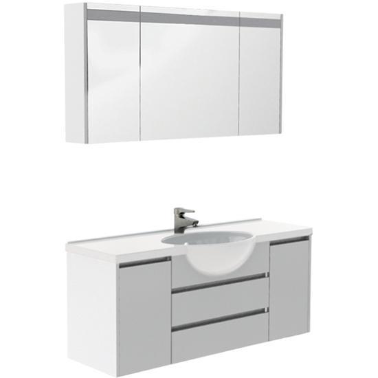 Комплект мебели для ванной Aquanet Лайн 120