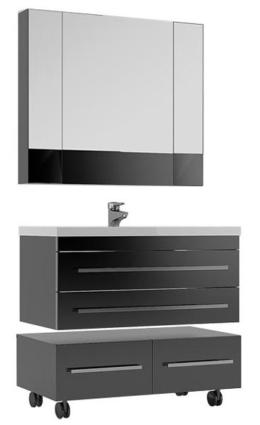 Мебель для ванной Aquanet серии Верона 100 черная