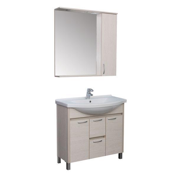 Мебель Aquanet Донна 90 мебель для ванной беленый дуб