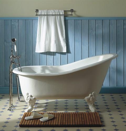Отдельностоящая чугунная ванна Herbeau с ножками Marie Louise