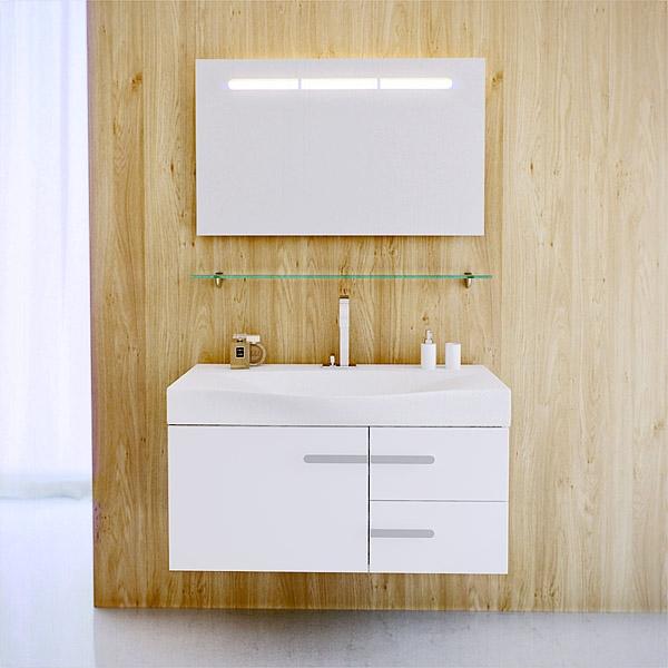 Aqwella, Россия. Комплект мебели для ванной комнаты Бродвей 110