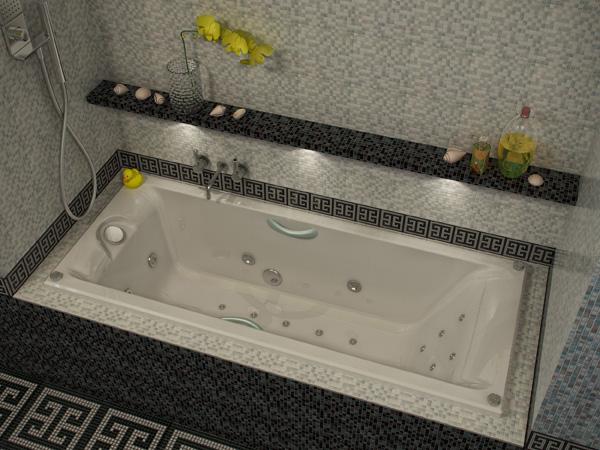 Прямоугольные акриловые ванны