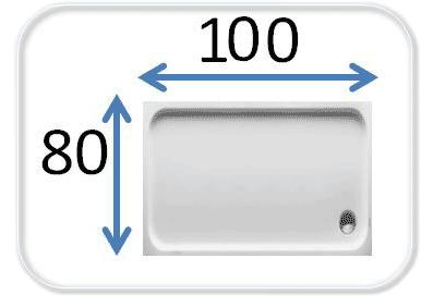 душевые кабины 100x80