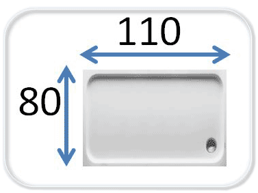 душевые кабины 110x80