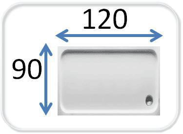 душевые кабины 120x90