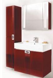 красная мебель для ванной