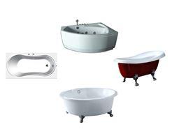 Ассортимент акриловых ванн