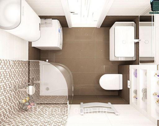 душевая кабина в маленькой ванной комнате - №10 фото