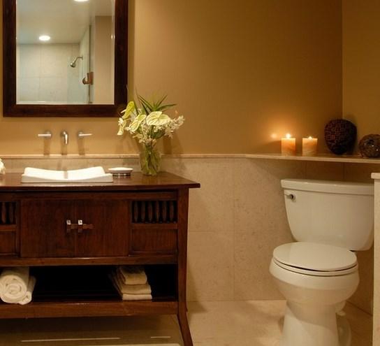 душевая кабина в маленькой ванной комнате - №5 фото