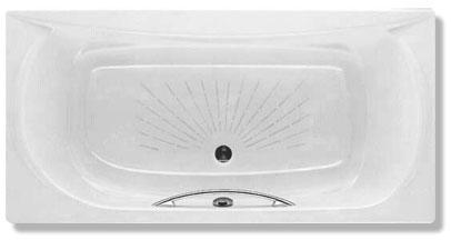 Roca Чугунная ванна AKIRA 170х85 ручка + ножки + подголовник